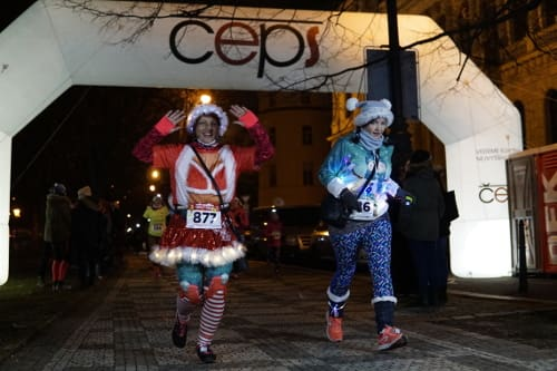 ČEPS Christmas Night Run Praha 2018